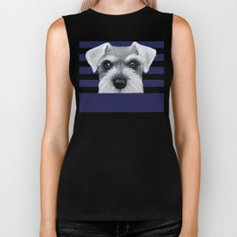 Schnauzer Grey&white, Dog illustration original painting print Biker Tank