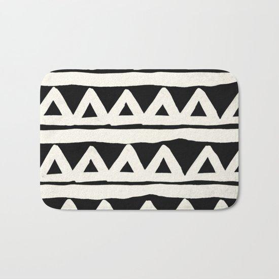 Tribal Chevron Stripes Bath Mat