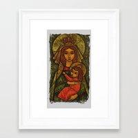 madonna Framed Art Prints featuring Madonna by Guna Andersone & Mario Raats - G&M Studi