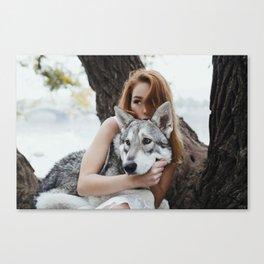Girl wolf Canvas Print