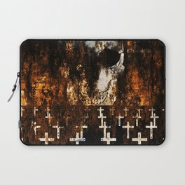 """Death Reigns"" - Skull and Crosses Laptop Sleeve"