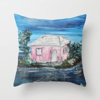 home sweet home Throw Pillows featuring home by sladja