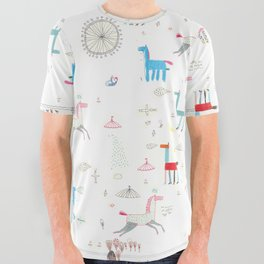 Merry-go-round All Over Graphic Tee