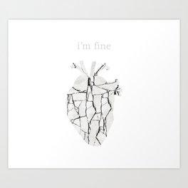 Broken Love (White Background) Art Print