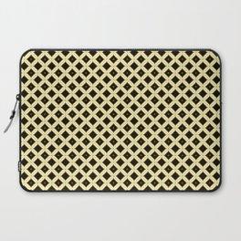 Batik Kawung Brown Ethnic Pattern Laptop Sleeve