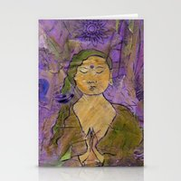queer Stationery Cards featuring Queer Buddha ~ Invocation  by Jamila