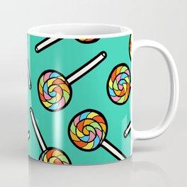 Rainbow Lollipop Pattern Coffee Mug