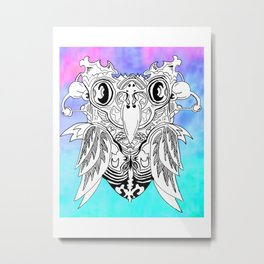 Owly Metal Print