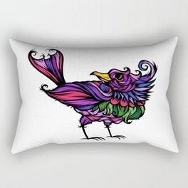Frilly Bird Rectangular Pillow