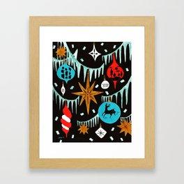 Mid Century Modern Christmas Tree Framed Art Print