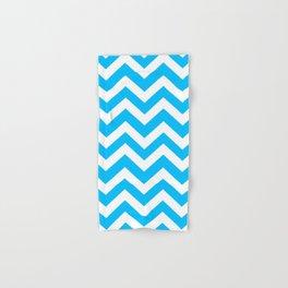 Capri - turquoise color -  Zigzag Chevron Pattern Hand & Bath Towel