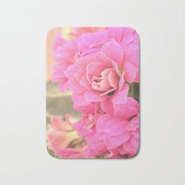 peach colored flower Bath Mat