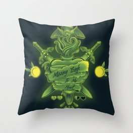 Missing Link To My Heart Throw Pillow
