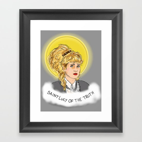 St. Lucy Framed Art Print