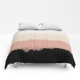 Abstract Rose Color Flora Blush Comforters