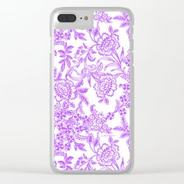 Radiant Orchid Tea Reversed Clear iPhone Case