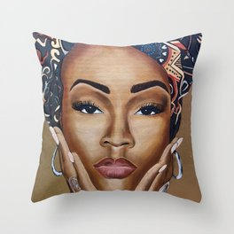 Brown Skin Throw Pillow