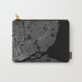 Detroit Black Map Carry-All Pouch