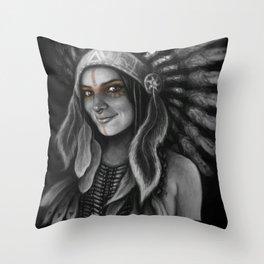 Tribe Girl Throw Pillow