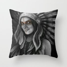 Tribe Girl Throw Pillow