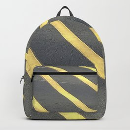 """""""Urban Legends"""" Yellow Stripes Backpack"""