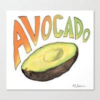 avocado Canvas Prints featuring Avocado by Ken Coleman