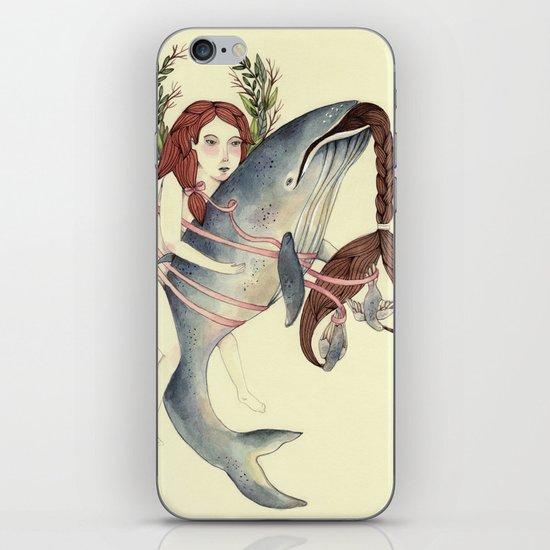 Ribbons Whale iPhone Skin