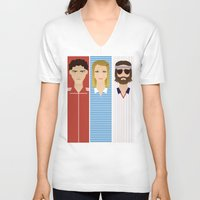 tenenbaum V-neck T-shirts featuring The Children Tenenbaum by Brandon Autry