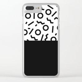 Memphis pattern 42 Clear iPhone Case