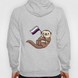 Sea Otter With Asexual Flag Hoody