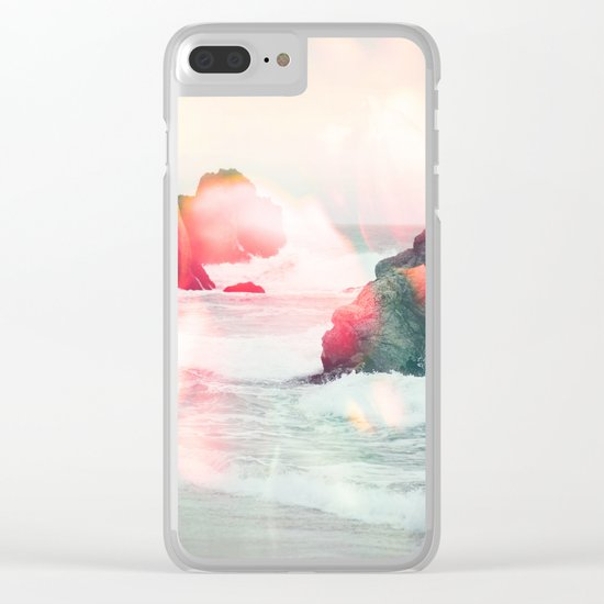 Crashing Tulips Clear iPhone Case