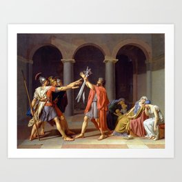 Oath of the Horatii by Jacques-Louis David Art Print