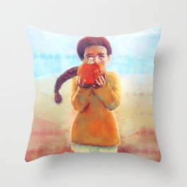 Pumpkin Girl - Autumn - Halloween Throw Pillow
