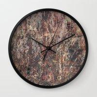 circle Wall Clocks featuring Circle by dominiquelandau