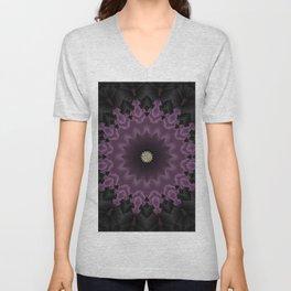 Royal Elegant Purple Mandala Design Unisex V-Neck