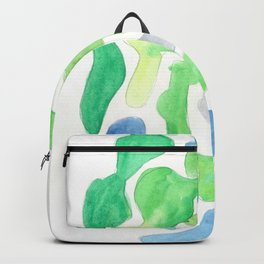 171122 Watercolour Abstract 5|abstract shapes art design colour |shapes art abstract Backpack