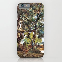 Forest Of Fontainebleau - Theodore Rousseau iPhone Case