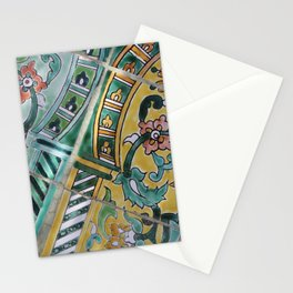 Foral Mosaik diagonal pattern Illustration Stationery Cards