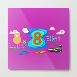 Number eight - Kids Art Metal Print
