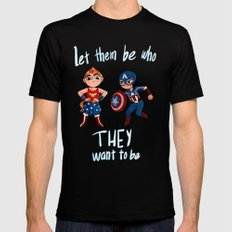 Let them be who they want to be Mens Fitted Tee Black X-LARGE