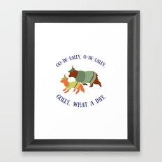 Robin Hood and Little John Framed Art Print