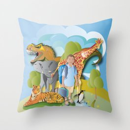 A Fantastic Journey Throw Pillow