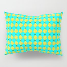 Cat's Claw Bloom illustration (blue background) Pillow Sham