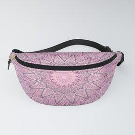 Delicate Pink Grey Boho Chic Mandala Fanny Pack