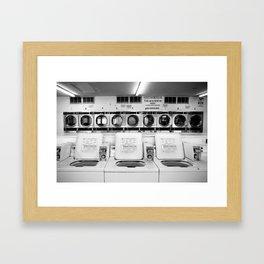 Fresno Laundromat Framed Art Print