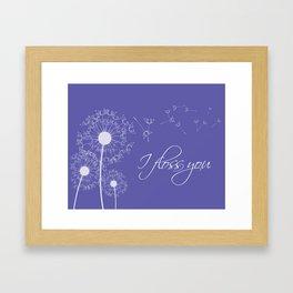 I floss you (purple) Framed Art Print