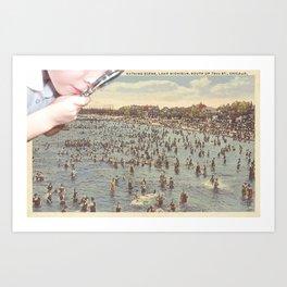Magnifying Beach Art Print