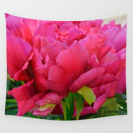 Dark Pink Tree Peony by Teresa Thompson Wall Tapestry