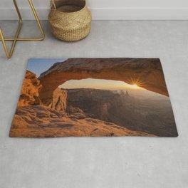 Rays of light USA Arches uta Crag Nature canyons Parks Sunrises and sunsets Rock Cliff Canyon park sunrise and sunset Rug