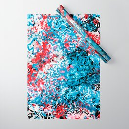 Demonic Toy Poodle Abstract Wrapping Paper